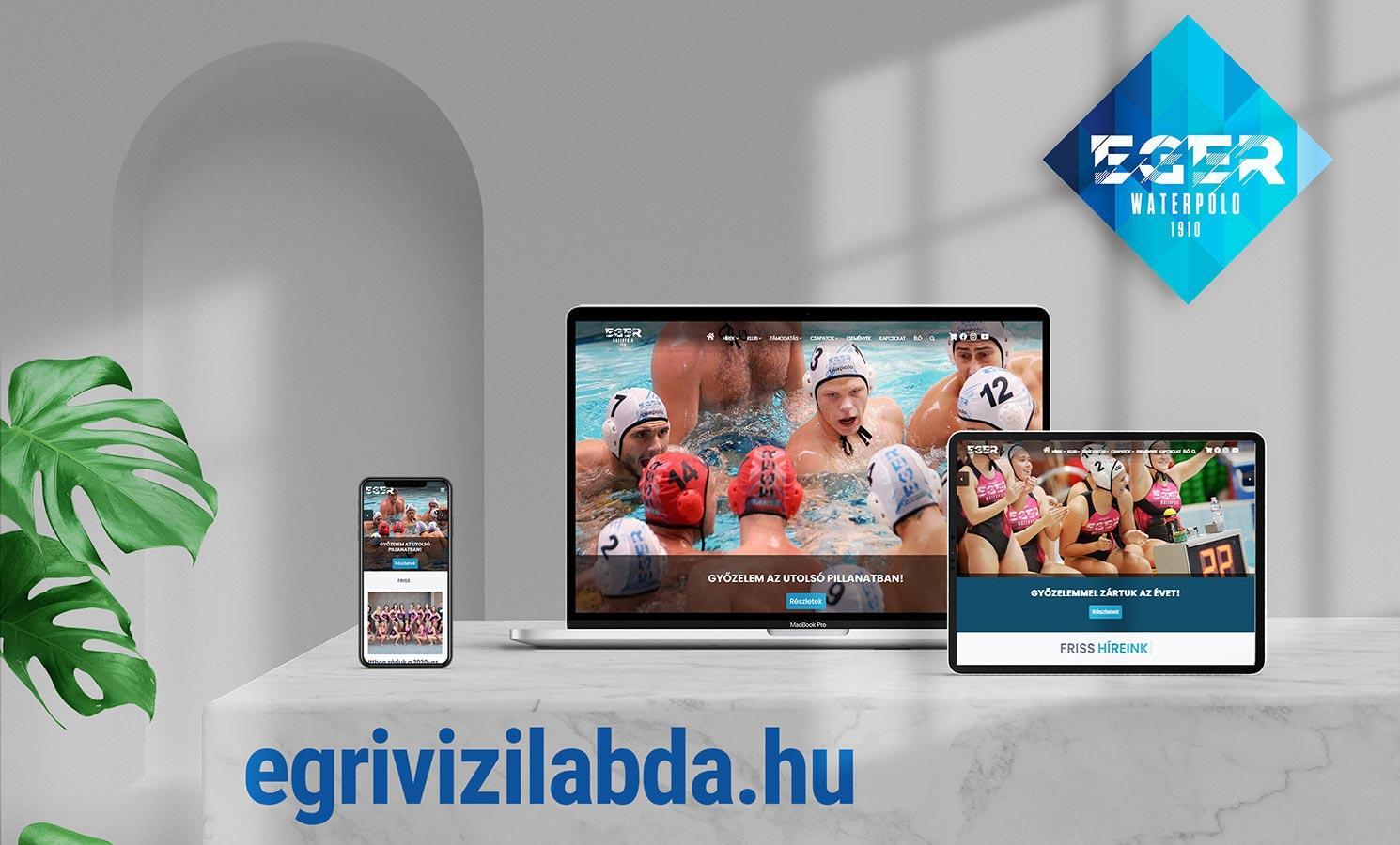 Egri Vizilabda Klub weboldal